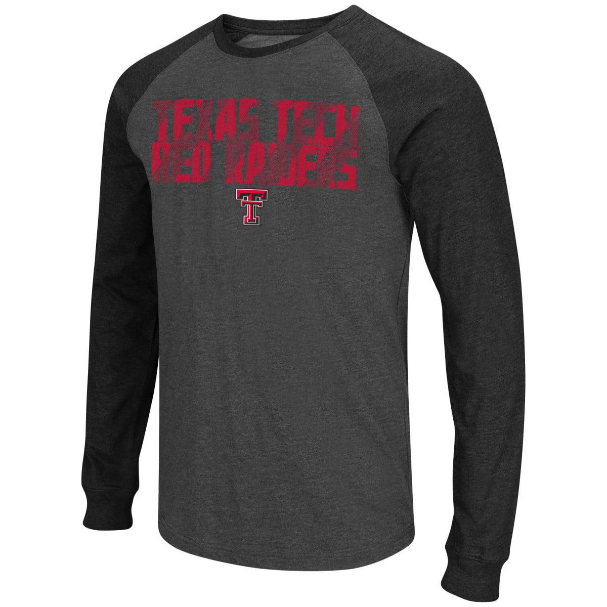 "Texas Tech Red Raiders NCAA ""Olympus"" Long Sleeve Raglan Shirt - Charcoal"