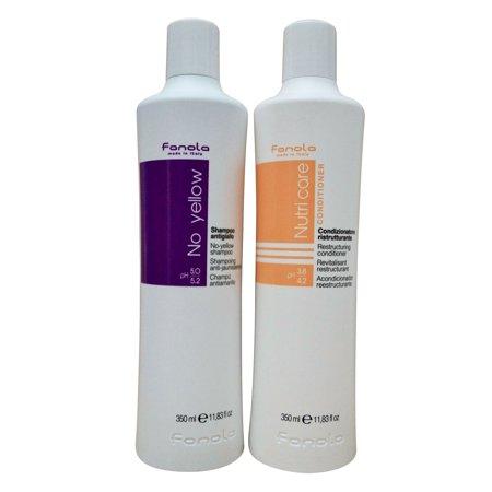 Fanola No Yellow Shampoo 11.83 OZ & Fanola Nutri Care Conditioner 11.83