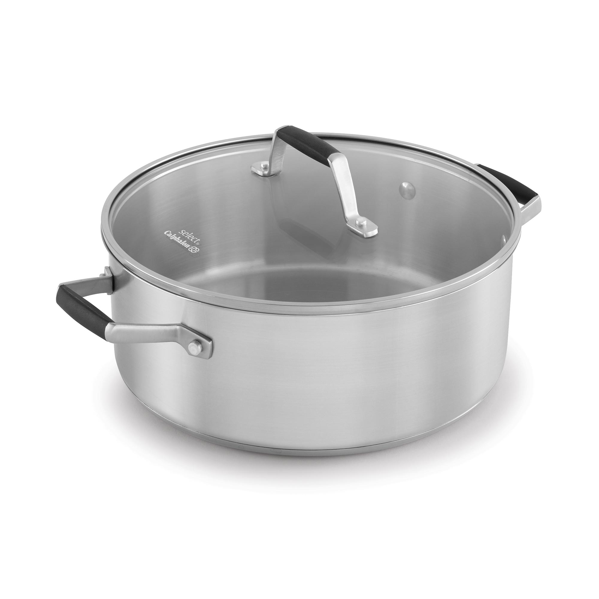 Click here to buy Select by Calphalon Stainless Steel 5 Qt Dutch Oven & Cover, 1.0 CT by Newell Rubbermaid.