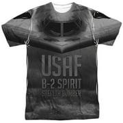 US Air Force USAF B-2 Spirit Stealth Bomber Adult 2-Sided Print T-Shirt