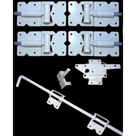 Vinyl Fence Gate Double Gate Hardware Kit White For Vinyl