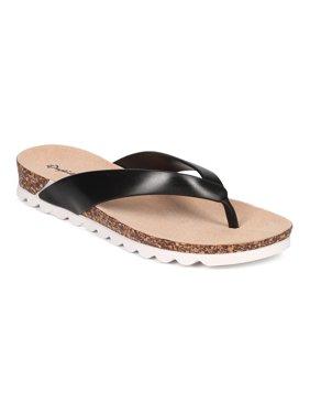 598e1710d Product Image Qupid CF53 Women PVC Thong Cork Sandal