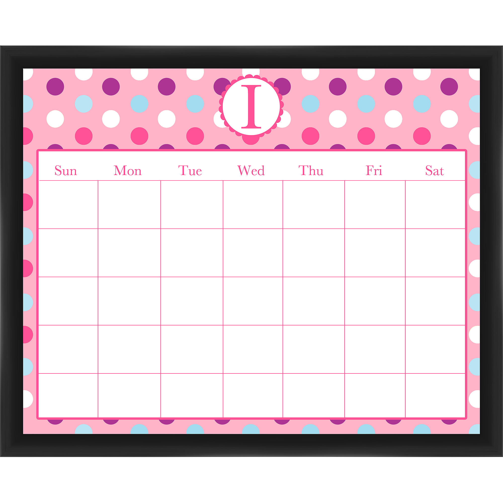 I Calendar Black Memoboard
