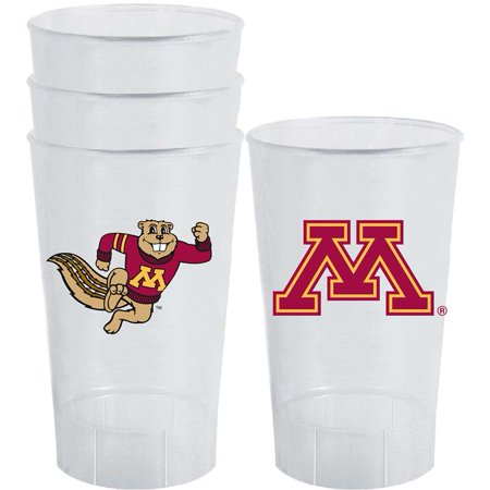 Minnesota Golden Gophers Plastic Tailgate Cups - Set of (Minnesota Gopher Tailgating)