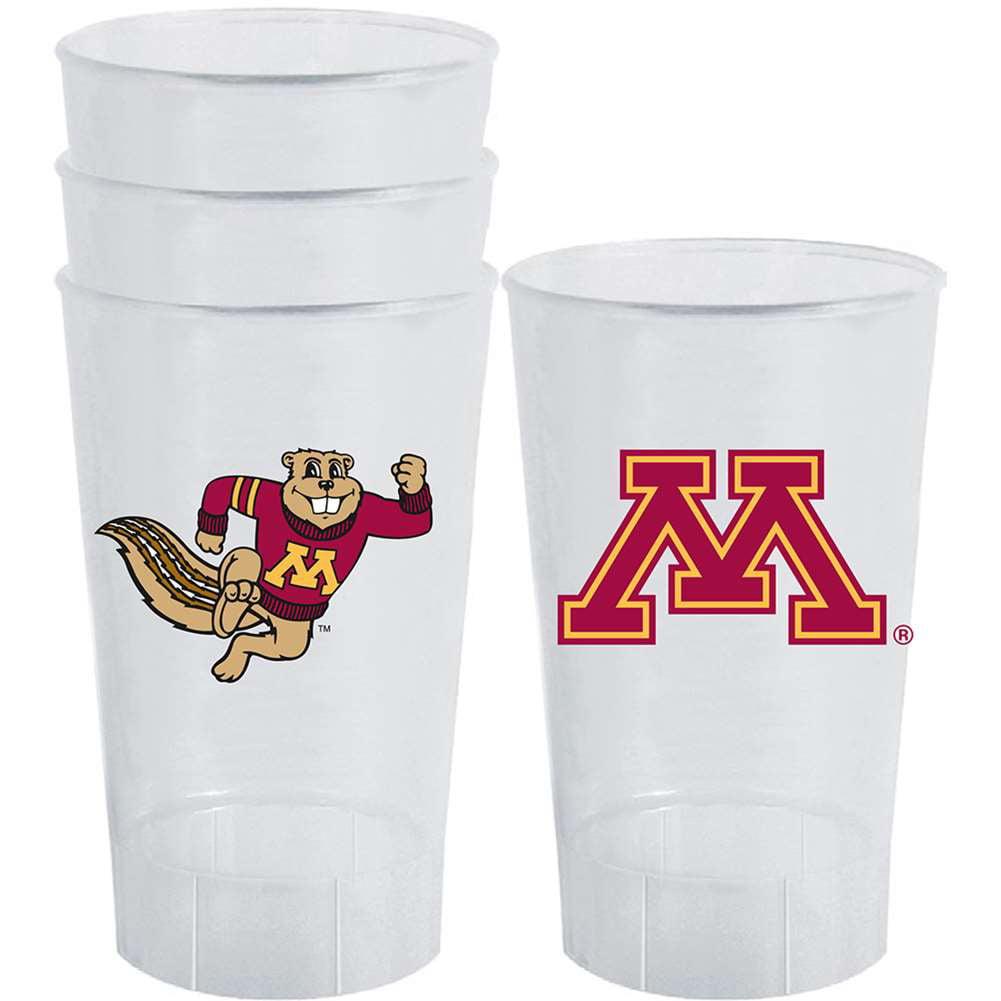 Minnesota Golden Gophers Plastic Tailgate Cups - Set of 4
