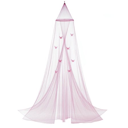 Girls Bed Canopy, Mosquito Netting Canopy, Baby Crib Pink Butterfly Bed - Blow Girls Net
