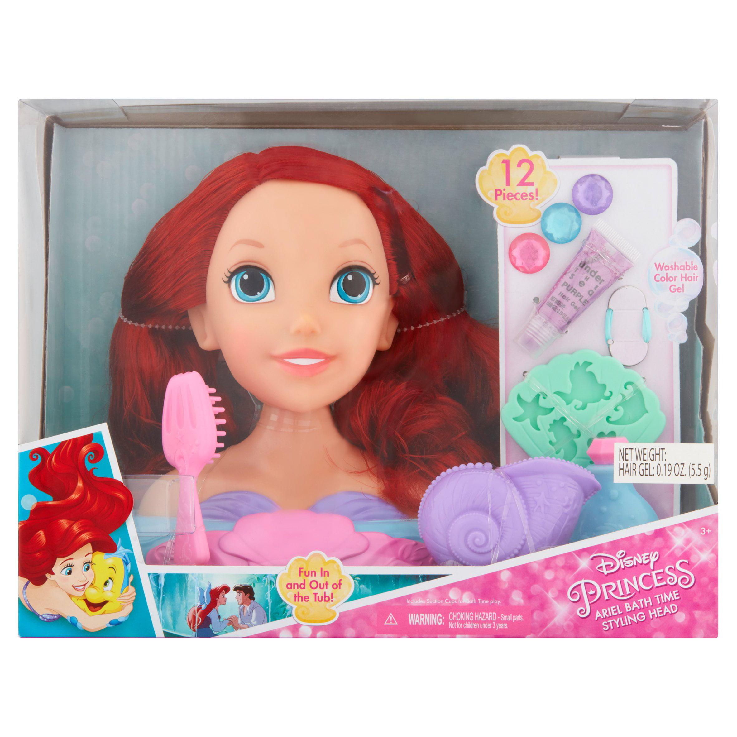 Disney Princess Ariel Bath Time Styling Head 3+ by Jakks Pacific, Inc.