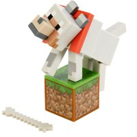 Minecraft Comic Maker Wolf Action Figure with 2 Faces
