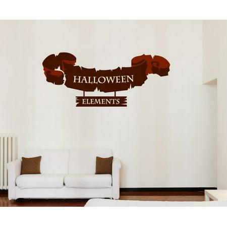 halloween banner decor wall decal - vinyl sticker - car sticker