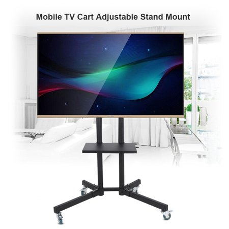 Universal TV Cart LCD LED Flat Panel Stand Mount w/ Mobile Wheels fits 32