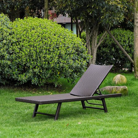 - Resin Wicker / Aluminum Frame All-Weather Multi-Position Chaise Lounge