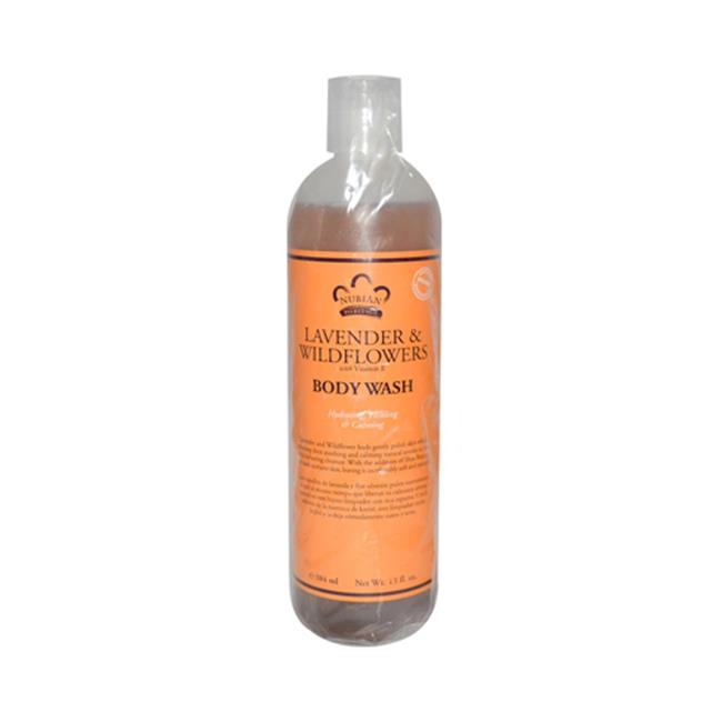 Nubian Heritage 0918219 Body Wash with Shea Butter, Lavender & Wildflowers - 13 fl oz - image 1 de 1