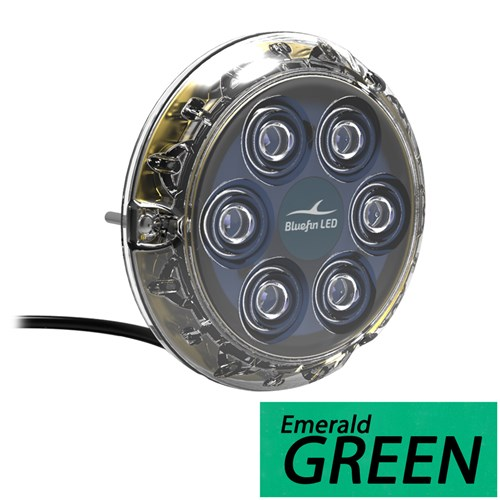 """Bluefin LED Piranha P6 Nitro SM Underwater Light 24V - Emerald Green LED Piranha P6 Nitro SM Underwater Light 24V"""