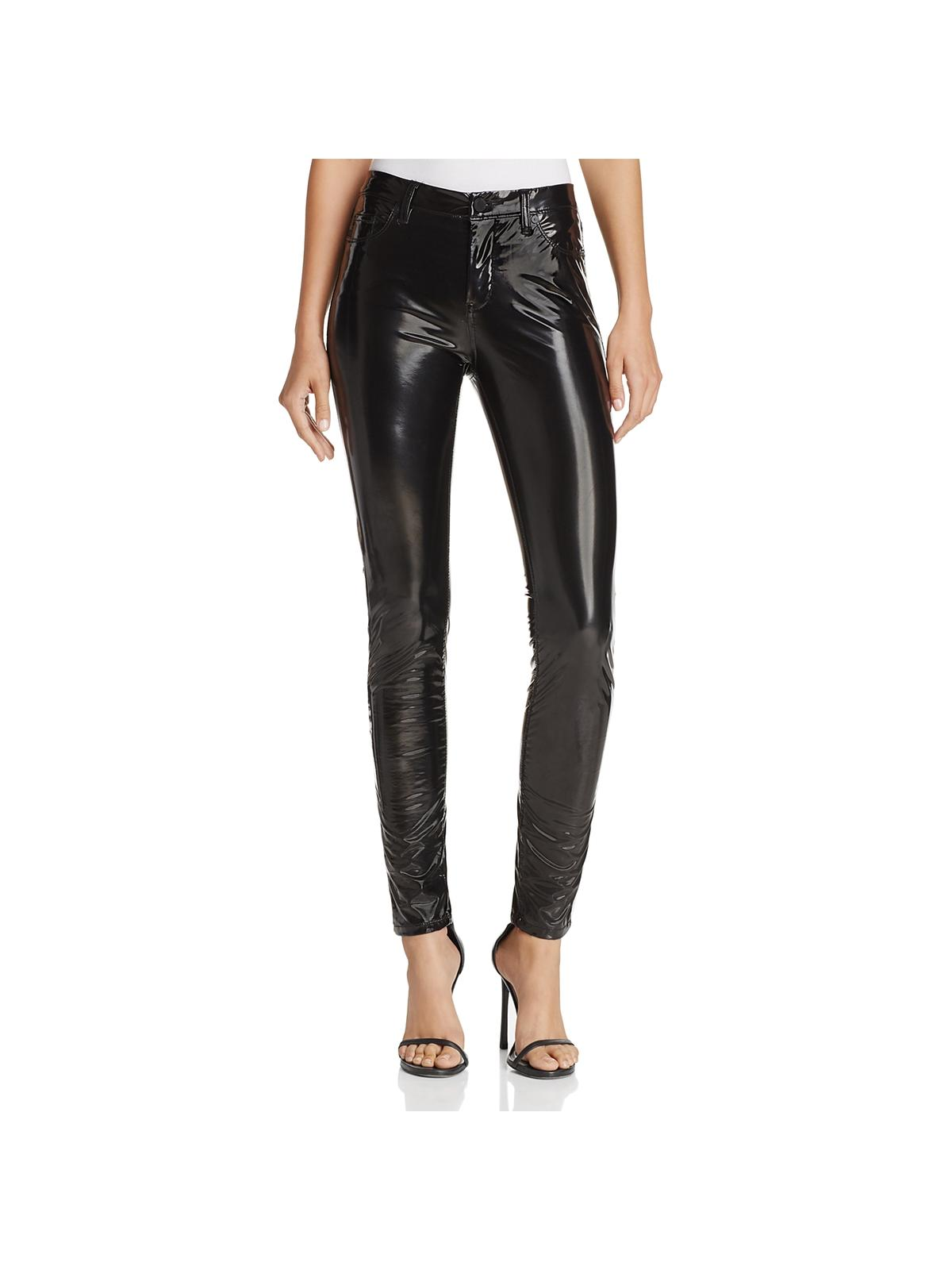 Blank Nyc Womens Faux Patent Leather High Rise Skinny