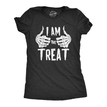 Womens I Am The Treat Tshirt Funny Trick Or Treat Halloween Tee