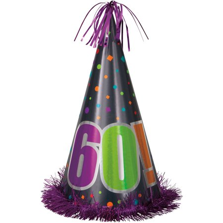 13 Jumbo Birthday Cheer 60th Party Hat