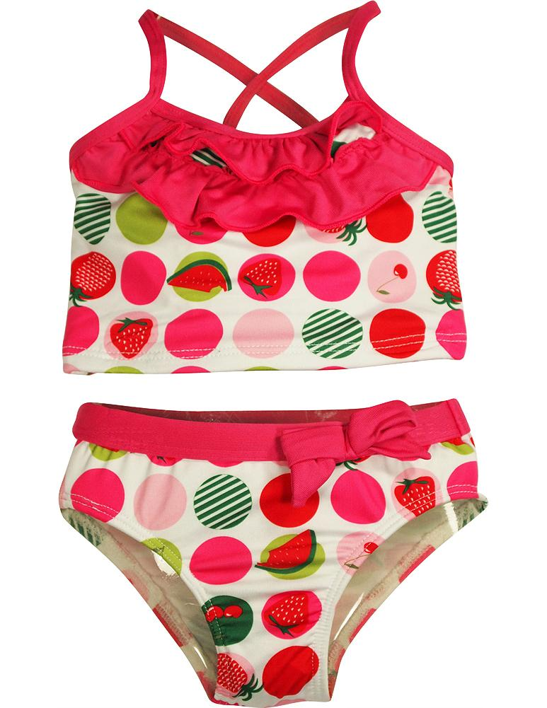 Pink Platinum - Baby Girls 2 Pc Swimsuit FUCHSIA FLOWER / 12 Months