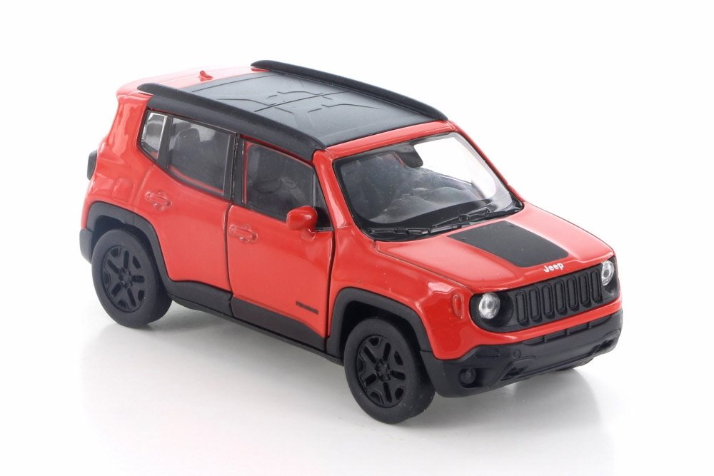 2017 JEEP RENEGADE TRAILHAWK WHITE W//BLACK DIECAST CAR BY WELLY 43736D