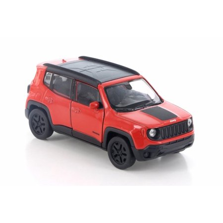 2017 Jeep Renegade Trailhawk, Red w/ Black - Welly 43736D - 4.5