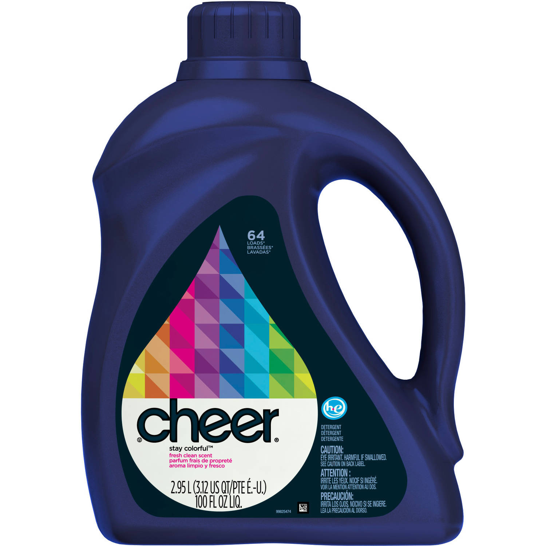 Cheer Liquid Laundry Detergent, 64 Loads 100 fl oz