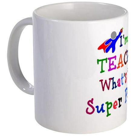 CafePress - Teacher Superhero Mug - Unique Coffee Mug, Coffee Cup - Superhero Cups