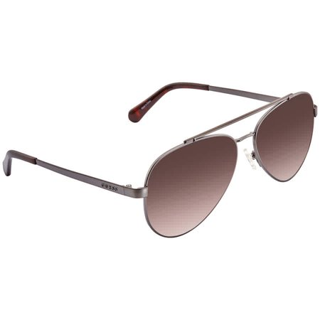Guess Brown Gradient Aviator Unisex Sunglasses (Guess Womens Sunglasses)