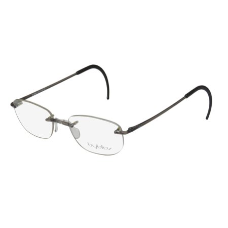 b7751efbff New Byblos 267 Mens Womens Designer Rimless Transparent Gray Drill Mount  Made In Italy In Style Frame Demo Lenses 52-18-153 Eyeglasses Spectacles -  Walmart. ...