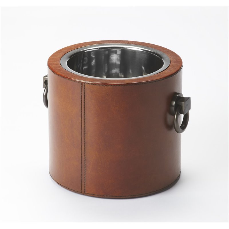 Butler Specialty Hors D'oeuvres Round Wine Cooler in Light Brown by Butler Specialty