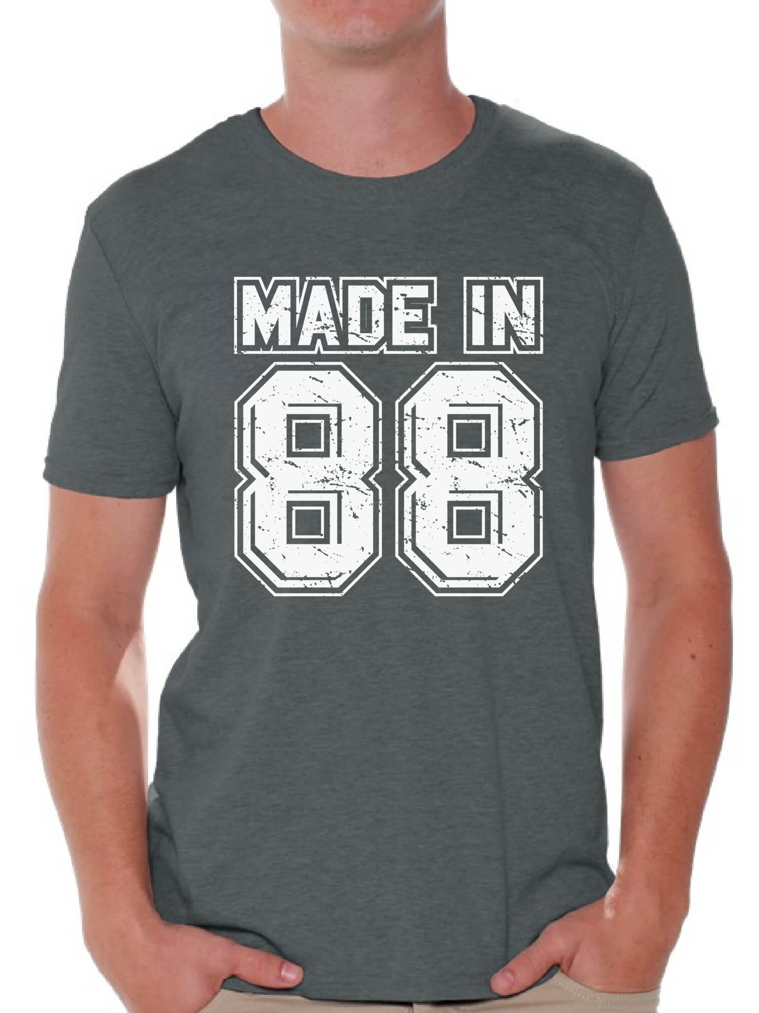 Awkward Styles Made In 88 Tshirt 30th Birthday Party Outfit For Men Born 1988 Funny Shirts Shirt Thirty Mens