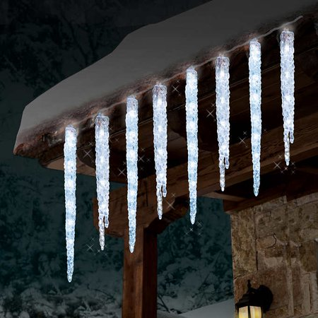 Led Icecubes (GE 20 Count Twinkling 100 LED Ice Crystal Icicle Set 9 Feet Christmas Holiday)