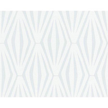 SHONER WOHNEN 5 - Floral Stripped Books Design Grey Wallpaper Sample - image 1 de 1