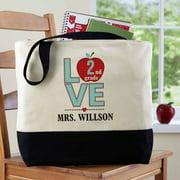 Personalized Love Teacher Tote Bag