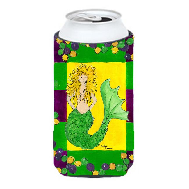Mardi Gras Mermaid Tall Boy bottle sleeve Hugger - 22 To 24 Oz. - image 1 of 1
