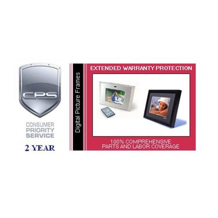 Consumer Priority Service DPF2-1000 2 Year Digital Picture Frame ...