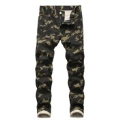 Sexy Dance 28-42 Men's Skinny Camouflage Slim Fit Stretch Jeans Pants Boys Camo Denim Jeans Trousers King Size