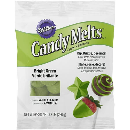 Wilton Candy Melts 8 Ounces Bright Green 1911 1081 Walmart