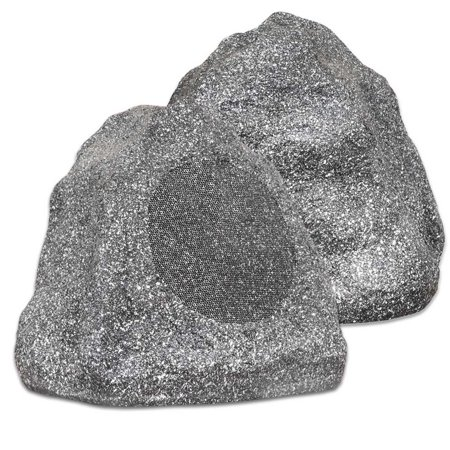 Theater Solutions 2R6G 6.5-Inch Outdoor Rock Speakers (Granite Grey)