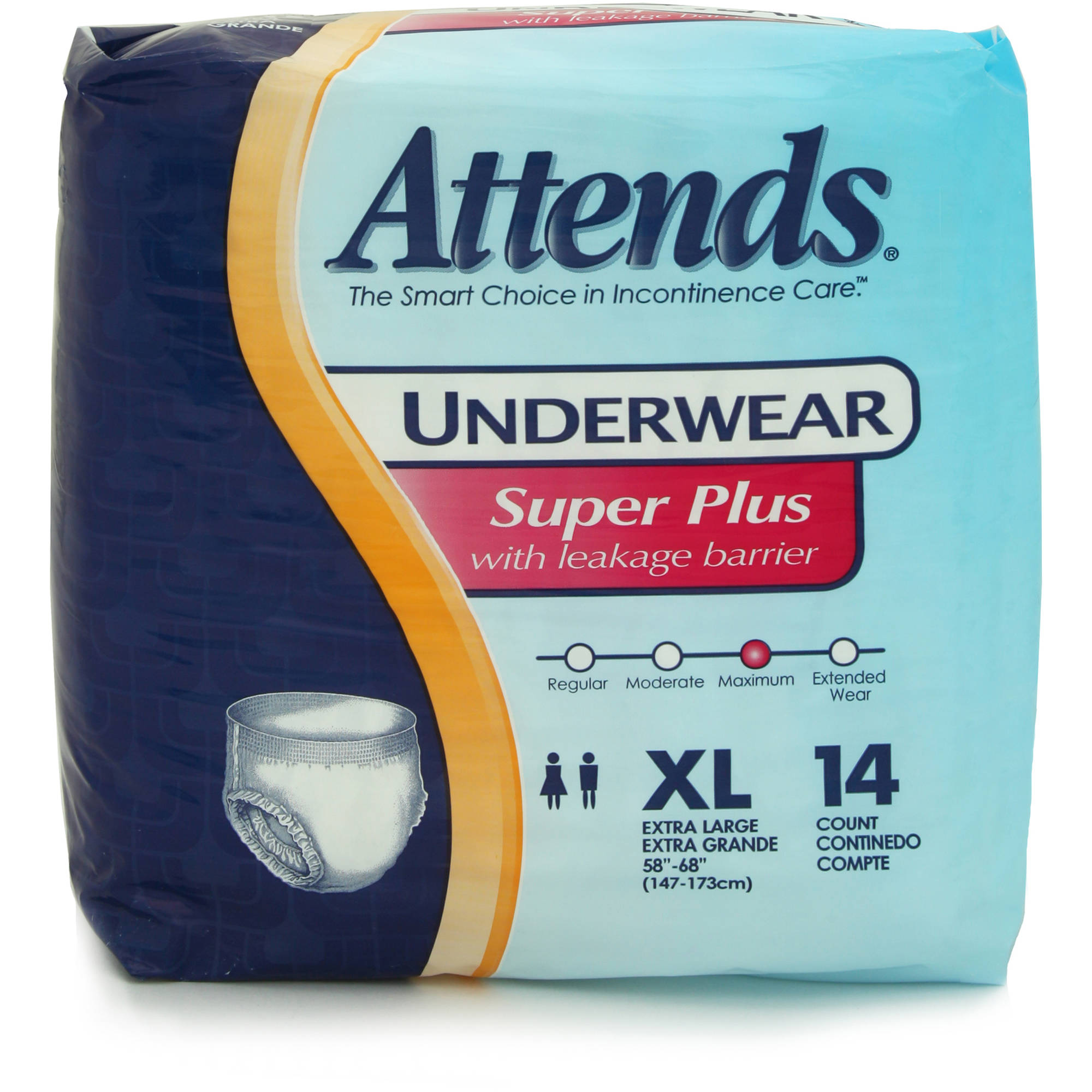 Attends Super Plus Absorbency Extra Large Protective Underwear, 14ct