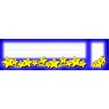 North Star Teacher Resources Smiley Stars Seat And Cubby Sign  3 X 2 In Cubby Sign  9 X 3 In Seat Sign  Pack Of 36