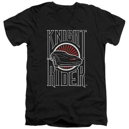 Knight Rider Sci-Fi Action TV Series Hasselhoff Logo Adult V-Neck T-Shirt Tee