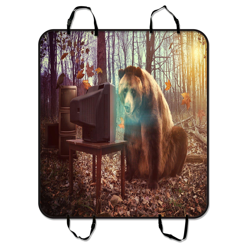 PHFZK Wild Brown Bear Watches Television in Woodland Dog ...