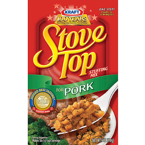Kraft Stove Top Pork Stuffing Mix, 6 oz