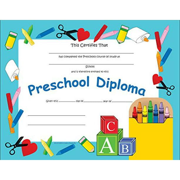 Preschool Certificate Walmart Com Walmart Com