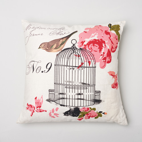 Amity Home Birdcage Cotton Throw Pillow