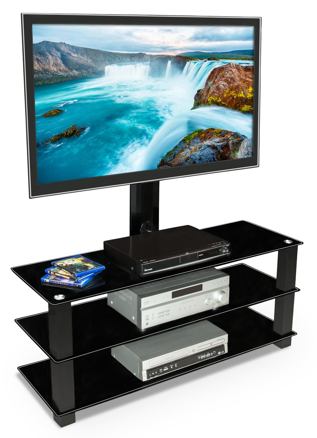 Mount it tv stand with mount entertainment center for tvs mount it tv stand with mount entertainment center for tvs between 32 to 60 inch mi 866 walmart sciox Image collections