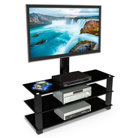 Mount-It! TV Stand with Mount, Entertainment Center for Flat Screen TVs Between 32 to 60 Inch (MI-866)