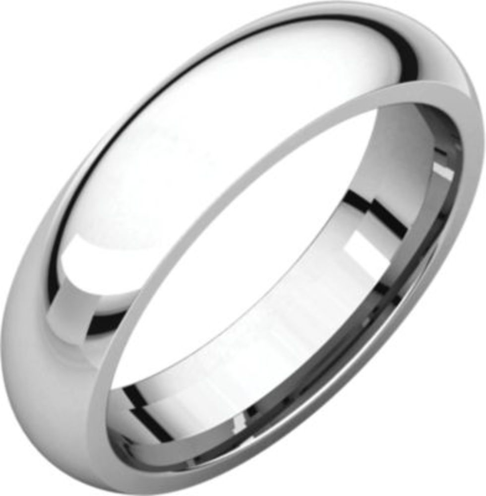 5mm Comfort Fit Band in 14k White Gold - Size 9