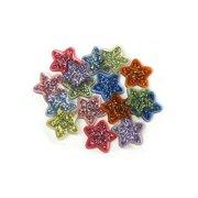 Jesse James Button Fun Glitter Stars