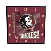 Florida State Go Team Square Clock