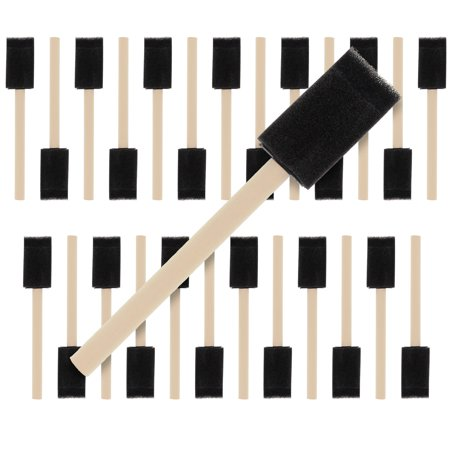 US Art Supply 1 inch Foam Sponge Wood Handle Paint Brush Set (Value Pack of 25) - Lightweight, durable](The Paint Brush Cover)